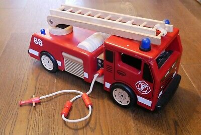 John Crane/Pintoy Wooden Fire Engine Traditional Toy • 10£