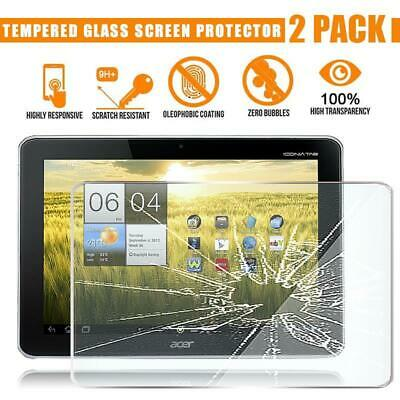 2 Pack Tempered Glass Screen Protector Cover For Acer Iconia Tab A200 10.1  • 7.99£