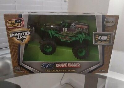 New Bright Mini RC Monster Jam Grave Digger Remote Control Truck 1:43 • 36£