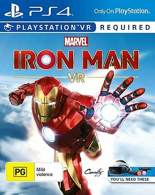 AU35 • Buy Marvel Iron Man VR For PS4, Playstation 4 VR Game. Brand New Sealed.