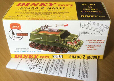 £9.99 • Buy Dinky 353 Shado 2 Mobile Empty Repro Box & Instructions