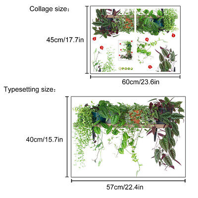 Removable Green Leaves Plant Wall Sticker Vinyl Decal Nursery Home Art Mural • 5.24£