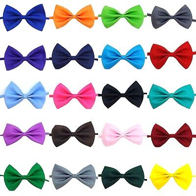 Pet Dog Cat Bow Tie, Neck Collar, Small To Large Pets, Adjustable, Puppy Kitten • 2.49£