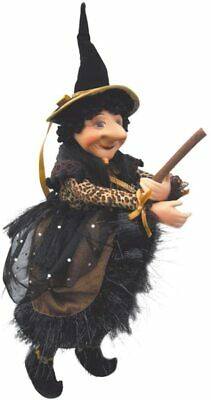 Witches Of Pendle - Nell Witch Flying (Gold) 30cm FREE P&P • 19.95£