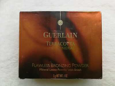 GURLAIN Terracotta Mineral Loose Flawless Bronzing Powder With Brush 3g NEW • 29.50£