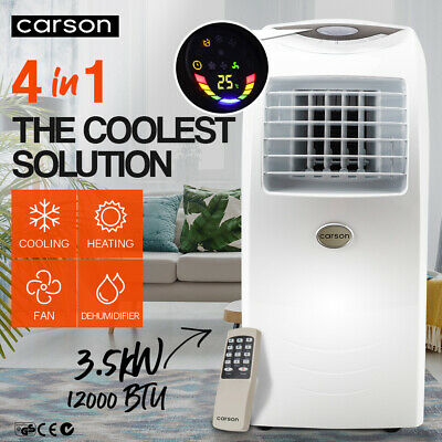 AU469 • Buy CARSON 4in1 Portable Air Conditioner Reverse Cycle Heater Dehumidifier 12000BTU