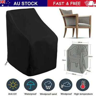 AU26.95 • Buy Waterproof Stacking Chair Cover UV Outdoor Garden Patio Furniture Protection Set