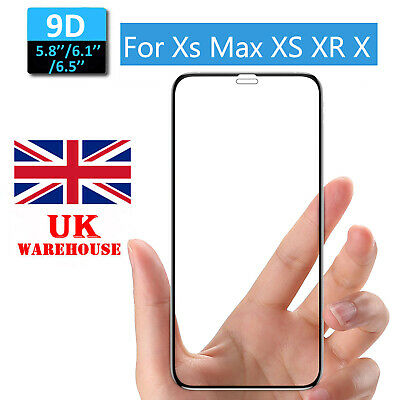 Gorilla For IPhone X/Xs/XR/XS Max 9D Full Tempered Glass Screen Protector Film • 4.38£