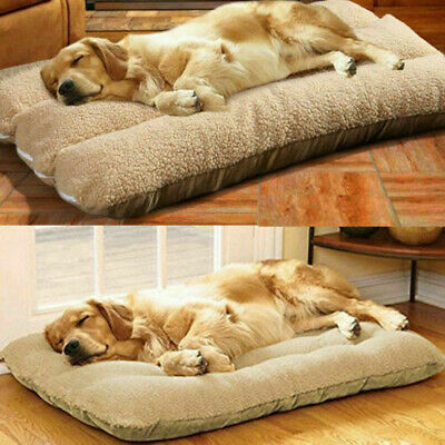 AU28.95 • Buy XL Orthopedic Dog Bed Pillow Plush Sherpa Large Pet Lounger Soft Foam For Crate