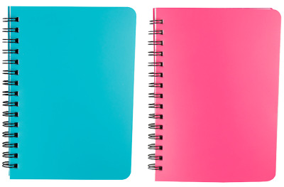 A4 / A5 Note Pad Wiro Spiral Bright Colours Twinwire Notebook Sheet Lined New A4 • 2.79£