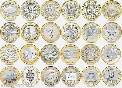British Coin Hunt £2 Commemorative Two Pound Coins (£2) 2pound Album, Circulated • 3.25£