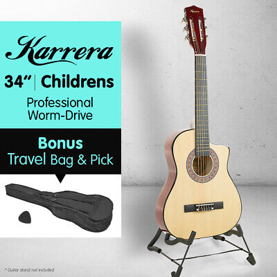 AU59 • Buy KARRERA NATURAL CHILDRENS ACOUSTIC GUITAR IDEAL KIDS GIFT 1/2 Size