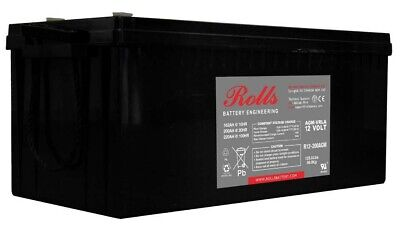 AU665.94 • Buy Rolls R12-200AGM Series 2 12 Volt Deep Cycle Battery