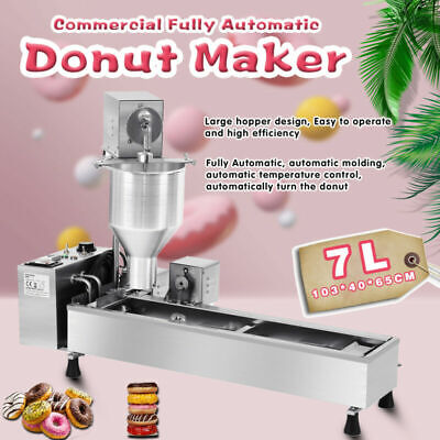 £764 • Buy Commercial Automatic Donut Maker Making Machine,Wide Oil Tank,3 Sets Mold