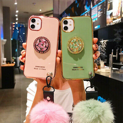 AU15.17 • Buy Bling Soft Thin Back Phone Case Cover With Ring Holder Straps For Samsung Galaxy