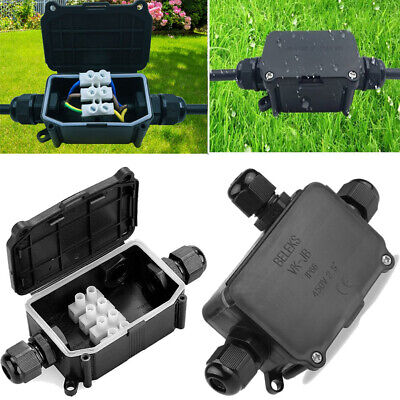 Waterproof Junction Box Case Electrical Cable Wire Connector Outdoor Underwater • 5.59£