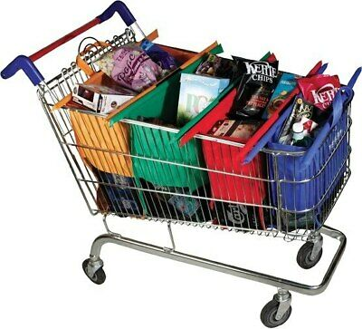 AU39.99 • Buy NEW Set Of 4 Shopping Trolley Bags Vibe Reusable Eco-Friendly Supermarket
