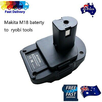 AU29.59 • Buy Battery Convert Adapter For Makita 18V BL1840 BL1830 Battery To Ryobi 18V Tools