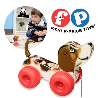 Fisher Price Classic Little Snoopy Baby Toddler Wooden Kids Pull Along Dog Toy • 13.95£