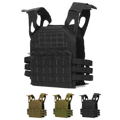 $33.99 • Buy Military Tactical Vest Molle Combat Assault Plate Carrier Hunting Waterproof