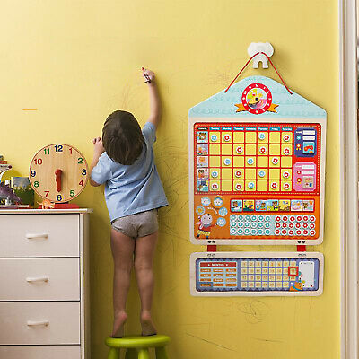 £40.66 • Buy 1Set Wooden My Magnetic Chore Calendar Form Learning Plan Good Habits Toys