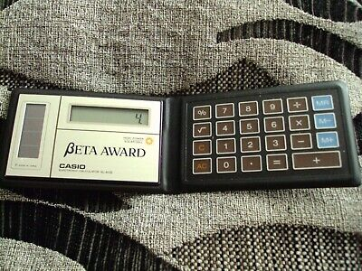 Vintage Casio Credit Card Sl-80a High Power Solar Cell Calculator Wallet • 20£