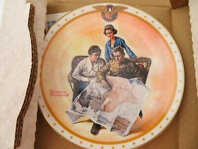 $ CDN30.20 • Buy Norman Rockwell Collector's Plate Taking Mother Over The Top