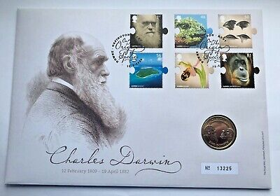 £49.50 • Buy ~Simply Coins~ 2009 2 TWO POUND CHARLES DARWIN COIN  FDC MINT!!!
