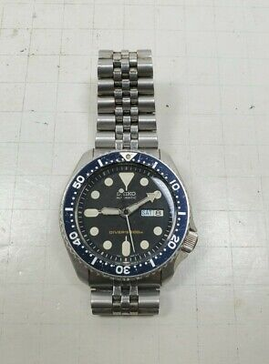 $ CDN316.37 • Buy Seiko SKX007K2 Brushed Stainless Steel Wrist Watch Diver