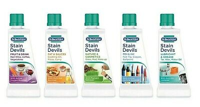 5x Dr Beckmann Stain Devils 5 Types Pack Of 5 Types + Fee Delivery • 9.99£