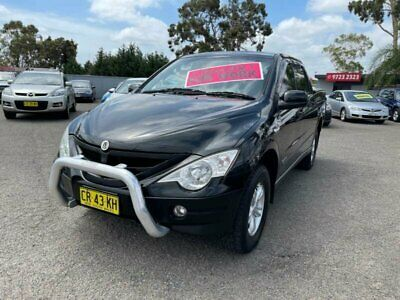 AU8990 • Buy 2011 Ssangyong Actyon Sports Q100 MY08 (4x4) Black Automatic 6sp A