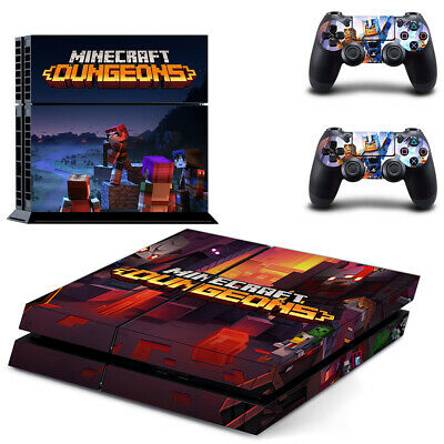 AU14.95 • Buy Playstation 4 PS4 Console Skin Decal Sticker Mine Dungeons +2 Controller Skin
