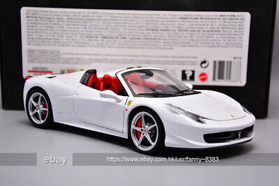 HOT WHEELS 1:18 Ferrari Elite 458 Spider White • 310£
