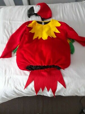 Adults Parrot Costume Fancy Dress Bird Size Medium Red Yellow Green  • 13.99£
