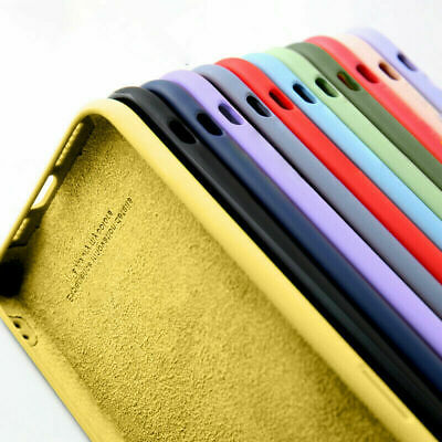 AU4.99 • Buy Liquid Silicone Case For IPhone 12 Pro Max 11 8 7 XR XS SE 2020 Back Phone Cover