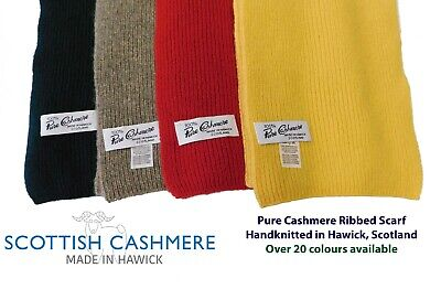 £29.95 • Buy Pure Cashmere Scarf  - Handknitted By Us In Hawick, Scotland