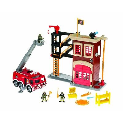 Fisher Price Imaginext Fire Station Engine And Figures Toy - Lights And Sound • 20£