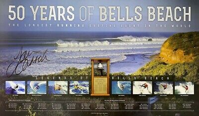 AU89 • Buy Tom Carroll Hand Signed Bells Beach 50 Years Limited Edition Surfing Print