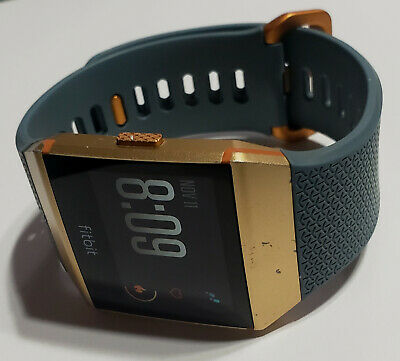 $ CDN80.04 • Buy Blue Burnt Orange Fitbit Ionic Fitness Smartwatch Only -NO CHARGER - Refurbished