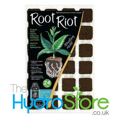 £9.79 • Buy Growth Technology Root Riot Tray Of 24 Starter Cubes For Seedlings Propagation