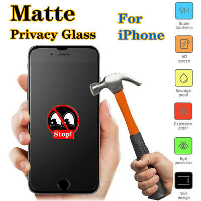 AU9.10 • Buy Matte Privacy Anti-Spy Tempered Glass Screen Protector For IPhone 7 8 X XS 11 12