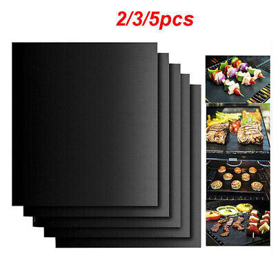 £3.69 • Buy 5x BBQ Grill Mat Reusable Non-stick Oven Liners Teflon Cooking Baking Sheet Pad