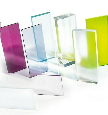 SALE! A4 & A3 Sizes Perspex Acrylic Sheets Pack Quantities Clear Mirror Coloured • 4.72£