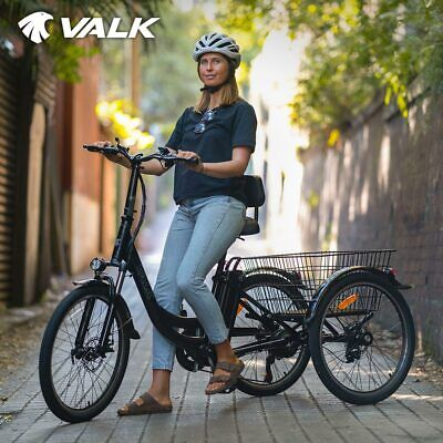 AU1219 • Buy VALK Electric Tricycle Motorised Battery Three 3 Wheel Cargo Adults