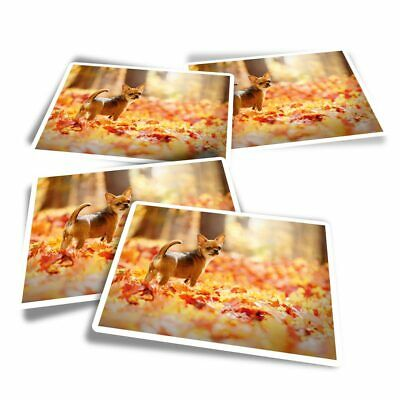 £3.49 • Buy 4x Rectangle Stickers - Chihuahua Brown Dog Puppy Forest  #44580