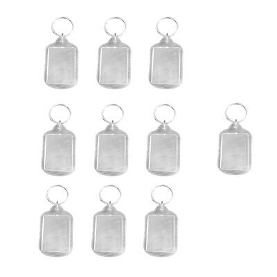 £4.80 • Buy Pack Of 10 Blank Acrylic Keychains Make Your Own Photo Keychain Insert All