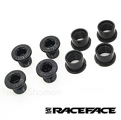 RACE FACE Chainring Bolts Set For MTB Chainsets, Black, M8 X 8.5mm (4-pack) • 5.95£