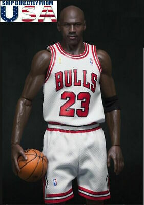 $25 • Buy 1/6 Michael Jordan WHITE Chicago Bulls Jersey 23 For 12  Enterbay Phicen M36 USA