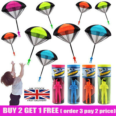 Hand Throwing Mini Soldier Parachute Toy Kids Outdoor Game Play Educational UK • 4.55£