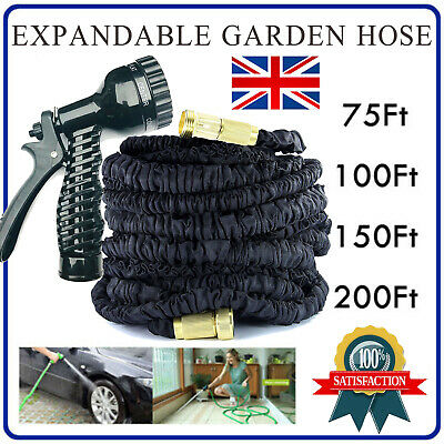 Expandable Garden Hose With Multi Spray Watering Gun For Watering And Washing UK • 31.79£